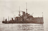 1896 to 1920 - VICTORIOUS - Majestic Class Pre-Dreadnought Battleship - 14900 tons - 120.0 x 23.0 - 1896 Chatham Dockyard - 4x12in., 12x6in., 16x3in., 12x47mm, 5TT - 13 knots - 06/97 Mediterranean Fleet, 16/02/98 ran aground at Port Said, 02/04 Channel Fleet, 01/07 Nore Division, Home Fleet, 09/15 laid up on the Tyne, disarmed, 02/16 converted to repair ship, Scapa Flow, 03/20 decommissioned, 04/23 sold for breaking - seen here as repair ship.