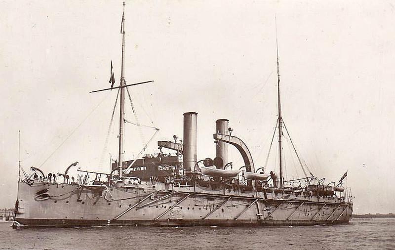 1889 to 1955 - VULCAN - Torpedo Boat Depot Ship - 6820 tons - 110.0 x 18.0 - 1889 Portsmouth Dockyard - 8x4.7in., 6TT - 20 knots - 1915 Submarine Dpeot Ship, 1931 trasining hulk, renamed DEFIANCE III, 1955 broken up.