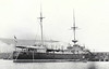 1898 to 1923 - ARROGANT - Arrogant Class Protected Cruiser - 5840 tons - 104.2 x 17.5 - 1898 Devonport Dockyard - 4x6in., 6x4.7in., 8x3in., 3TT - 19 knots - 1911 Submarine Depot Ship at Dover, as seen here, 1923 sold for breaking.