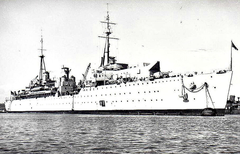 1942 to 1966 - ADAMANT (A164) - Submarine Depot Ship - 16500 tons - 200.5 x 21.5 - 1942 Harland & Wolff, Belfast - 8x4.5in., 16x40mm, 8x20mm - 17 knots - 04/43 4th Submarine Flotilla, 1950 Flagship, Reserve Fleet, Portsmouth, 1954 3rd Submarine Flotilla, Rothesay Bay, 1964 2nd Submarine Sqdn, Portsmouth, 03/66 to Reserve, 09/70 sold for breaking.