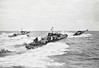 1941 to ???? - MGB 65 - 28 tons - 21.3 x 6.1 - 1941 British Power Boat Co., Hythe - 1x20mm, machine guns - 40 knots - 1940 building for French Navy, taken over after fall of France - seen here with MGB 57 to left with 6th MGB Flotilla, 1942.