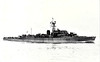 1945 to 1947 - CARNARVON BAY (K636) - Bay Class Frigate - 1626 tons - 93.7 x 11.7 - 1945 Henry Robb & Co., Leith - 4x4in., 4x40mm, 4x20mm, 1xHedgehog - 19.5 knots - 1945 Home Fleet, 1947 to Reserve, 08/59 sold for breaking.