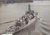 1945 to 1961 - CARDIGAN BAY (K630) -  Bay Class Frigate - 1626 tons - 93.7 x 11.7 - 1945 Henry Robb & Co., Leith - 4x4in., 4x40mm, 4x20mm, 1xHedgehog - 19.5 knots - 08/45 Mediterranean Fleet, 07/49 Eastern Fleet, 10/50 Korea, 05/61 to Reserve, 05/62 sold for breaking.