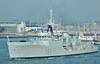 1957 to 1979 - EXMOUTH - Blackwood Class Type 12 Frigate - 1479 tons - 94.0 x 10.0 - 1957 J Samuel White & Sons - 3x40mm., 2xLimbo ASM, 2TT - 27 knots - 1966 first major warship to be powered by gas turbines, 1968 to 1979 trials ship, 1979 broken up.
