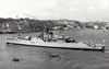 1958 to 1984 - EASTBOURNE (F73) - Whitby Class Frigate - 2185 tons - 112.8 x 12.5 - 1958 Vickers Armstrong Ltd., Barrow - 2x4.5in., 2x40mm, 2xLimbo ASM - 30 knots - 1972 Apprentice Training Ship, 1977 Static Training Ship, 03/84 sold for breaking - seen here in 10/68.