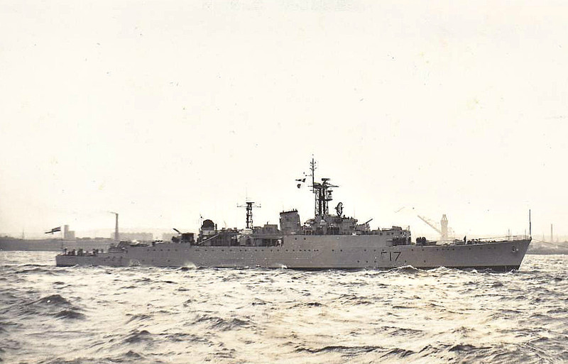 1943 to - ULYSSES (R69) - U Class Destroyer - 2091 tons - 111.0 x 10.9 - 1943 Cammell Laird & Co., Birkenhead - 4x4.7in., 4x40mm, 6x20mm, 8TT - 37 knots - 01/44 25th Destroyer Flotilla, Home Fleet, 04/44 Russian Convoys, 06/44 Operation Neptine Force G, 05/45 Task Force 57 of US Navy, 07/45 Japan, 1946 to Reserve, 1953 converted to Type 15 Anti-Submarine Frigate F17, (2x4in, 2x40mm, 2xSquid ASM), 1958 Christmas Island Nuclear Tests, 1963 decommisioned, store ship, 10/69 sold for breaking.