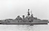1957 to 1985 - RUSSELL (F97) - Blackwwod Class Type 14 Anti-Submarine Frigate - 1456 tons - 94.0 x 10.0 - 1957 Swan Hunter & Co., Wallsend - 3x40mm, 2xLimbo ASM, 2TT - 27 knots - 1985 broken up - seen here whilst laid up.