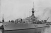 1944 to 1963  - LOCH ALVIE (F428) - Loch Class Frigate - 2260 tons - 93.6 x 11.8 - 1944 Barclay Curle & Co., Glasgow - 1 x 2 4in.QF, 1 x 4 - 40mm, 2 x 2 - 20mm, 2 x 1 - 20mm, 2 x 3 - Squid DCT, 2 DCT, 1 DCR - 19.5 knots - 09/44 to Londonderry for Atlantic Convoy Escort, 29/11/44 Convoy JW62 to Kola Inlet, 17/12/44 to Liverpool for repairs to heavy weather damage, 02/45 return to Atlantic Convoy Escort, 12/05/45 Convoy JW67 to Kola Inlet, last Russian convoy, detached during passage to Trondheim to escort 14 U-boats to Loch Erribol, 06/45 to Reserve at Sheerness, 1950 6th Frigate Flotilla, Home Fleet, 1952 to Reserve at Chatham, 1953 refit and modernisation, Persian Gulf, 11/63 decommissioned at Singapore, 09/65 broken up -  seen here in April 1954 after refit.