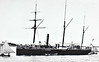 1886 to 1905 - LIZARD - Bramble Class Screw Gunboat - 810 tons - 50.0 x 8.8 - 1886 Harland & Wolff, Belfast - 6x4in. - 13 knots - 01/1888 Australia/New Zealand, 1904 laid up at Sydney, 02/05 sold for breaking locally - seen here in New Zealand in 1897.