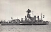 1915 to 1946 - MARSHAL SOULT - Marshal Ney Class Monitor - 7000 tons - 108/4 x 27.5 - 1915 Palmers Shipbuilders, Jarrow - 2x15in., 2x3in. - 9 knots - 1915-18 operated in support of Army along Flanders coast, 04/18 First Ostende Raid, 10/18 Tender to HMS Excellent, 04/26 Training Ship, Chatham, 09/39 Depot Ship for Trawlers, Portsmouth, 03/40 disarmed, 07/46 sold for breaking - seen here in 10/34.