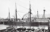 1867 to 1890 - WATERWITCH - Waterwitch Class Armoured Iron Hydraulic Gunboat - 1280 tons - 49.4 x 9.8 - 1867 Thames Iron Works, Woolwich - 2x7in., 2x20pdr. - 9.5 knots - first jet propelled ship in the world - never deployed operationally - used as trials ship at Portsmouth - 04/90 sold for breaking.