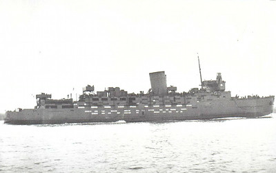 1940 to 1945 - INVICTA - Landing Ship - 4178GRT - 106.2 x 15.9 - 1940 W Denny & Co., Dumbarton, No.1344 - 1x4in., 4x20mm - 15 knots - SR Cross Channel steamer - 1940 to RN, converted to Landing Ship (Infantry), 08/42 Dieppe, 06/44 Operation Neptune, 12/45 Cross Channel Troopship duties, 10/46 returned to owners.