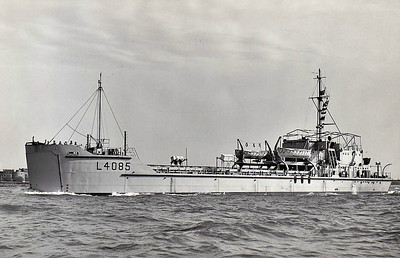 1946 to ???? - LCT-4085 - Landing Craft Tank - 657GRT/895DWT - 70.7 x 11.9 - 1946 built - 4x20mm - 8 tanks, 13 trucks of 350 tons of cargo - 12 knots - 1956 to Army, named ABEGADIA - seen here in 03/60.