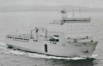 2006 to DATE - CARDIGAN BAY (L3009) (London) - IMO9240782 - 'Bay' Class Auxiliary Landing Ship (Dock) - 16160 tons - 2006 by BAE Systems, Govan, Glasgow - 176.6 x 26.4 - Royal Fleet Auxiliary - seen here in 03/07.