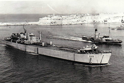 1945 to 1947 - LST-3026 - Landing Ship Tank - 2256GRT/4820DWT - 105.4 x 16.8 - 1945 Blyth Drydock and Shipbuilding Co., Cowpen Quay, No.307 - 10x20mm - 11 knots - 1947 HMS CHARGER, 1956 EMPIRE NORDIC - 10/65 broken up at Bilbao - seen here in 09/46.