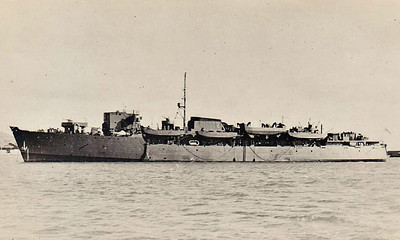 1940 to 1946 - QUEEN EMMA - RM Commando Landing Ship - 4135GRT/835DWT - 115.8 x 14.4 - 1939 De Schelde Shipyard, Vlissingen, as KONINGIN EMMA for SM Zeeland, Harwich/Hook of Holland Ferry - 15/05/40 fled from Holland to avoid German Inavasion, 17/05/40 requisitioned as Troop Transport, 09/40 converted into Assault Landing Ship by Harland & Wolff, Belfast, (2x3in., 2x40mm, 4x20mm), 01/41 commisioned as QUEEN EMMA, 03/41 Lofoten Islands, 10/41 Freetown, 08/42 Dieppe, 11/42 Operation Torch, 07/43 Sicily, 17/07/43 hit by aircraft bomb, 18 dead, 06/44 Operation Overlord, Troop Transport, 03/45 Eastern Fleet, 04/46 returned to owners, renamed KONINGIN EMMA, 12/68 broken up at Antwerp.