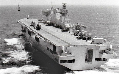1998 to DATE - OCEAN (L12) - Amphibious Assault Ship - 21500 tons - 203.4 x 35.0 - 1998 Vickers Shipbuilding & Engineering Co., Govan - 3x30mm CIWS, 4x20mm, 18 h/c - 18 knots - still in service.