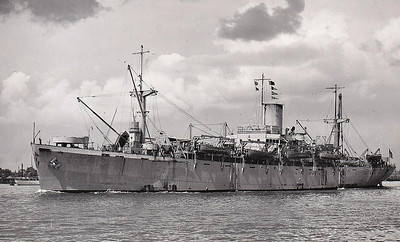 1944 to 1946 - SEFTON - Landing Ship Infantry - 7177GRT/9000DWT - 127.4 x 18.3 - 1944 Consolidated Steel Corpn., Wilmington, CA, No.356 (Type C1-S-AY1) as EMPIRE GAUNTLET (1944) - 1946 EMPIRE GAUNTLET, 1947 returned to USMC, renamed CAPE COMORIN - 12/64 broken up at Portsmouth, VA - seen here in 06/46.