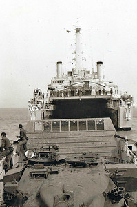 1967 to 1999 - INTREPID (L11) - Fearless Class Landing Ship - 12310 tons - 158.5 x 24.4 - 1967 John Brown & Co., Clydebank - 2x40mm, 4xSea Cat SAM, up to 5 h/c - 21 knots - 04/82 Falklands War, San Carlos Bay landings, 1984 refitted (Sea Cat removed, 4x30mm, 2x20mm added), 06/85 Training Ship, Dartmouth Training Sqdn., 1990 to Reserve, 1999 decommisioned, 09/08 sold for breaking.