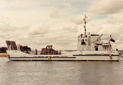 1987 to DATE - AKYAB (L109) - Ramped Landing Craft - 180GRT - 1987 by James & Stone, Brightlingsea - 33.0 x 8.3 - 10 knots - Royal Logistics Corps.