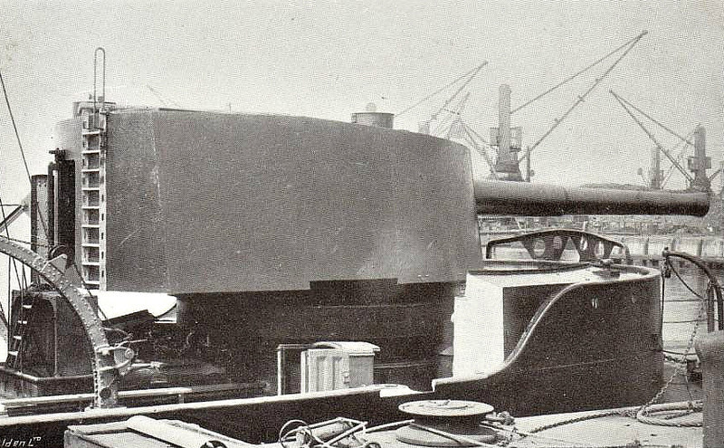 A 9.2 INCH GUN MOUNTED IN A GUNBOAT - I suspect that this is the main armament of an M Class Monitor.