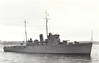 1934 to 1950 - HALCYON (J42) - Halcyon Class Minesweeper - 815 tons - 70.1 x 10.2 - 1934 John Brown Shipbuilders, Clydebank - 2x4in - 17 knots - 09/39 1st Minesweeping Flotilla, Harwich, 04/50 Operation Dynamo, rescued 2271 troops, withdrawn due to damaged during air attacks, 2 dead, 06/40 resumed Flotilla duties, 09/40 badly damaged by mine, under repair unitl 07/41 Iceland, 12/41 Operation Anklet (Lofoten Islands), 06/42 Russian Convoys, 06/44 Operation Neptune, then North Sea operations, 05/46 to Reserve, 04/50 sold for breaking.