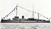 1919 to 1947 - ALBURY (J41) - Hunt Class Minesweeper - 710 tons - 70.0 x 8.5 - 1919 Ailsa Shipbuilders, Troon - 1x4in, 1x12pdr - 16 knots - 19/01/42 badly damaged in collision with SUTTON, 03/47 sold for breaking Belgium - seen here in 08/30.
