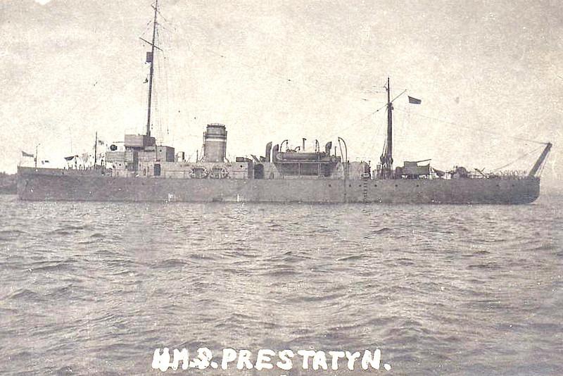 1918 to 1923 - PRESTATYN - Hunt Class Minesweeper - 710 tons - 70.0 x 8.5 - 1917 Simons Lobnitz & Co., Renfrew - 1x4in. - 16 knots - 01/23 sold for breaking.