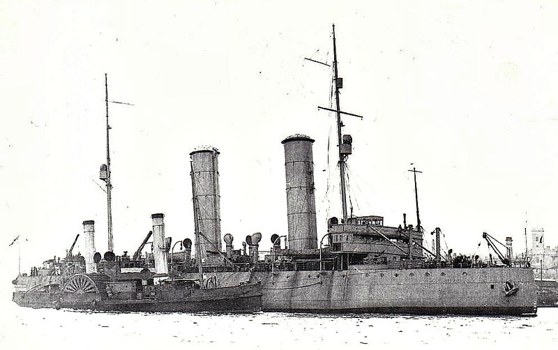1918 to 1921 - SVIATOGOR - Ice Breaker - 9300 tons - 99.8 x 21.6 - 1917 Arnstrong Whitworth Ltd., Elswick - 15 knots - 1918 scuttled at Archangel, 08/18 seized by British, refloated, to Royal Navy, 11/21 returned to Russians, 1928 renamed KRASSIN, 07/28 rescued survivors of Nobile's failed attempt on North Pole, 1972 converted to research ship, 1974 floating power station, Spitzbergen, 1986 research ship, 1990 museum ship.