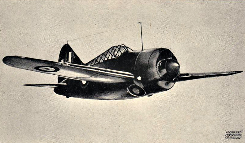1941 to 1942 - BREWSTER BUFFALO - 27 of these little fighters were diverted to the Royal Navy from an order originally bound for Belgium. They were used in the Mediterranean, in the defence of Crete, proving generally unsatisfactory in combat. They were retired from service by the arrival of the Grumman Martlet.