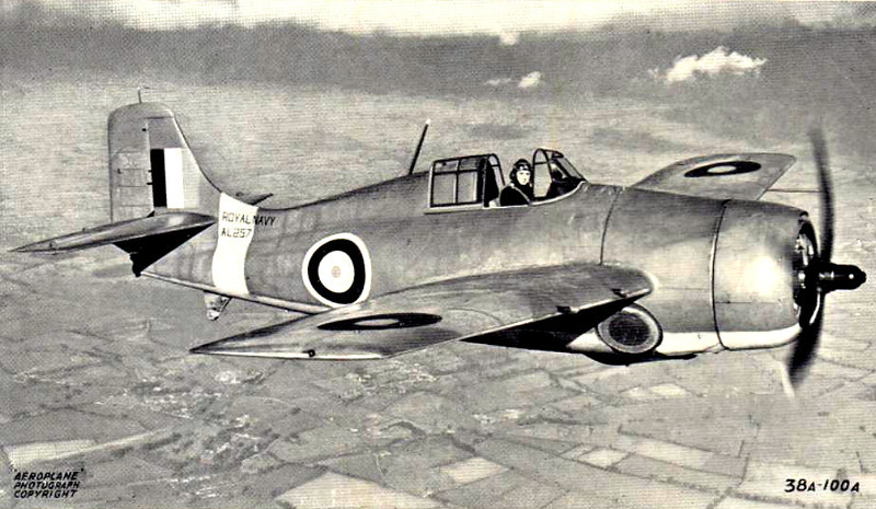 1940 to 1945 - GRUMMAN MARTLET/WILDCAT - Single-Seat, Carrier-Borne Fighter - 1200 Wildcats were supplied to the FAA from 1941 as replacements for the Fairey Fulmar. They were particularly effective on convoy escort duties against the ever-present FW200's. The Marltet name was dropped in 1944 in favour of it's American name.