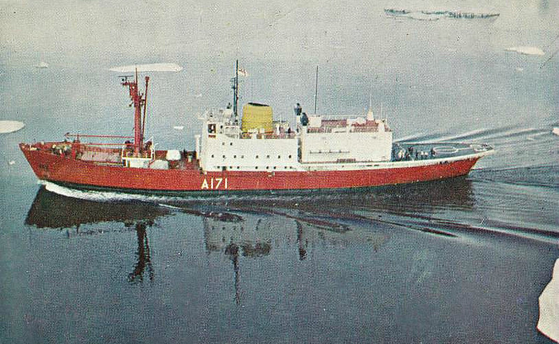 1967 to 1991 - ENDURSNCE (A171) - Ice Patrol Vessel - 2641GRT/3225DWT - 93.6 x 14.0 - 1956 Krogerwerft, Rendsburg, No.1080 as ANITA DAN (1956-67) - 2x20mm, 2 h/c - 14.5 knots - 1967 converted by Harland & Wolff, Belfast - 03/82 South Georgia, 25/04/82 h/c's attacked, damaged and forced abandonment of Argentine submarine SANTA FE, 1989 damaged by iceberg, not fit for ice service, 1991 decommisioned.