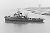1954 to 1977 - SAMSON (A390) - Samson Class Fleet Tug - 850GRT - 54.9 x 11.3 - 1954 Hall & Co., Aberdeen, No.741 - 13 knots - 15/01/58 towed RFA OAKOL off  shingle bank at Isle of Wight, run aground, 13/02/65 attended the Irish cargo steamer CUTY OF WATERFORD on fire off St Catherine's Point, Isle of Wight, Zeebrugge for Waterford, fought the fire, towed to St. Helen's Roads, 04/77 sold to Pounds & Co., Portsmouth, 12/77 sold to Cosimo Lo Negro, Palermo, renamed COSMO, 03/81 broken up at Palermo - seen here leaving Portsmouth.