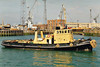 1965 to ???? - DALMATIAN (A129) - Dog Class Harbour Tug - 170 tons - 28.7 x 7.5 - 1965 Appledore Shipbuilders - fate not known.