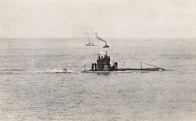 1908 to 1920 - C13 - C Class Submarine - 292 tons, 321 dived - 43.6 x 4.1 - 1908 Vickers Shipbuilding, Barrow - 2TT - 12 knots, 7 dived - 02/20 sold for breaking.