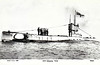 1918 to 1929 - H22 - H21 Class Submarine - 430 tons, 518 dived - 52.1 x 4.7 - 1918 Vickers Shipbuilding Ltd., Barrow - 4TT - 11.5 knots, 9 dived - 02/29 sold for breaking - seen here in 01/21.
