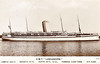1917 to 1956 - HMT LANCASHIRE - Troopship - 9445GRT - 147.0 x 17.5 - 1917 Harland & Wolff, Belfast, No.459 - 1917 requisitioned as troopship whilst building, 1920 returned to Bibby Line, 1930 converted into permanent troopship, 06/44 Normandy Landings, 1945 converted to stores ship, 1946 re-converted to troopship, 1956 broken up at Barrow - posted December 12th, 1937, by a passenger,