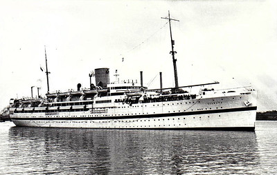 1936 to 1960 - HMT DILWARA - Troopship - 11080 GRT - 151.3 x 19.3 - 1936 Barclay Curle & Co., Whiteinch, No.654 - 1960 sold mercantile as KUALA LUMPUR, 12/71 broken up at Kaohsiung - this ship brought me and my family back from Malaya in 1955 - seen here in 1950.
