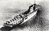 1927 to 1946 - SARATOGA (CV3) - Lexington Clss Aircraft Carrier - 52600 tons - 270.7 x 32.8 - 1927 New York Shipbuilding Corpn., Camden, NJ - 8x8in., 12x5in., 78 a/c - 33 knots - 11/01/42 torpedoed by Japanese submarine I6, 06/42 Battle of Midway, 08/42 Battle of Eastern Solomons, 09/42 topredoed by Japanese submarine I26, 11/43 Bougainville, 02/44 Eniwetok, 04/44 Sabang, 02/45 Iwo Jima, 21/02/45 6 bomb hits, 123 dead, 25/07/46 sunk in Bikini atom bomb tests.
