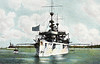 1893 to 1933 - NEW YORK (ACR2) - New York Class Armoured Cruiser - 8150 tons - 117.0 x 19.8 - 1893 William Cramp & Sons, Philadelphia - 6x8in., 12x4in., 3TT - 21 knots - 12/1893 South Atlantic Sqdn., 1895 European Sqdn., 1898 Spanish American War, 03/07/1898 Battle of Santiago de Cuba, 1901 Asiatic Fleet, 03/05 to 0509 refit and modernisation, 05/09 10th Cruiser Sqdn., Mediterranean, 08/10 Asiatic Fleet, 02/11 renamed SARATOGA, 02/16 to Reserve, 06/17 Pacific Patrol Force, 11/17 Atlantic Fleet Convoy Escort, 12/17 renamed ROCHESTER (4x8in., 8x5in, 8x3in.), 05/19 Flagship, Destroyer Sqdn, Seaplane Sqdn., 1923 Central/South America, 02/32 Pacific Fleet, 04/33 decommisioned at Cavite, 12/41 scuttled to avoid capture by Japanese.