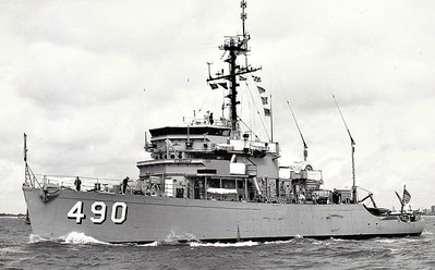 1955 to 1991 - LEADER (MSO490) - Aggressive Class Minesweeper - 775 tons - 52.4 x 10.7 - 1955 JL Martinec Shipbuilding Corpn., Tacoma, WA - 12/91 decommisioned, 08/94 sold for breaking.