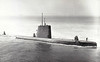 1946 to 1973 - GREENFISH (SS351) - Balao Class Submarine - 1526 tons, 2242 dived - 95.0 x 8.3 - 1946 Electric Boat Co., Groton, CT - 1x5in, 1x40mm, 1x20mm, 10TT - 20 knots, 9 dived - 1948 Guppy conversion, 07/61 FRAM, 12/73 decommisioned, to Brazil as AMAZONAS (S16), 10/92 decommisioned, 01/04 broken up - seen here in 08/72.