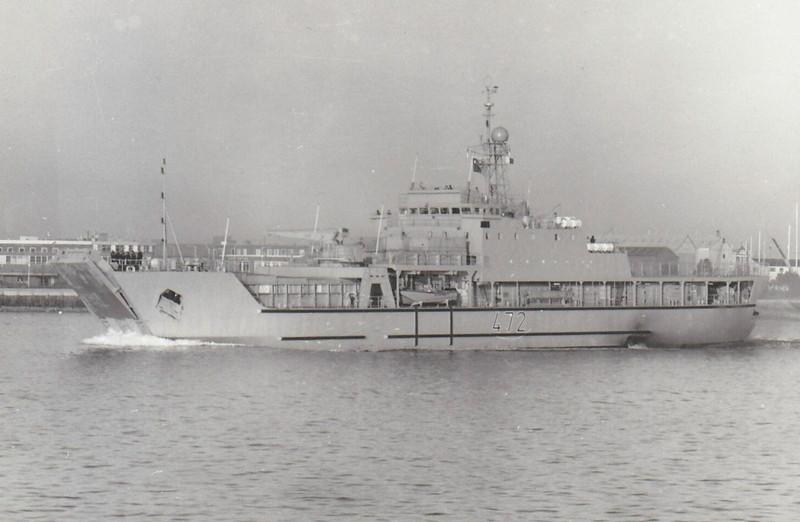 1984 to DATE - KALAAT BENI HAMMED (472) - Kalaat Beni Hammed Class Small Landing Ship - 2450 tons - 93.0 x 15.5 - 1984 Booke Marine, Lowestoft - 2x40mm, 2x25mm - 15 knots - still in service - seen here on trials.