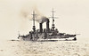 1902 to 1921 - HABSBURG - Habsburg Class Battleship - 8340 tons - 114.5 x 21.2 - 1902 Trieste Naval Dockyard - 3x9.4in., 12x6in, 10x3in, 2TT - 18.5 knots - 1915 Bombardment of Ancoma, 1920 to Britain, 1921 scrapped in Italy.