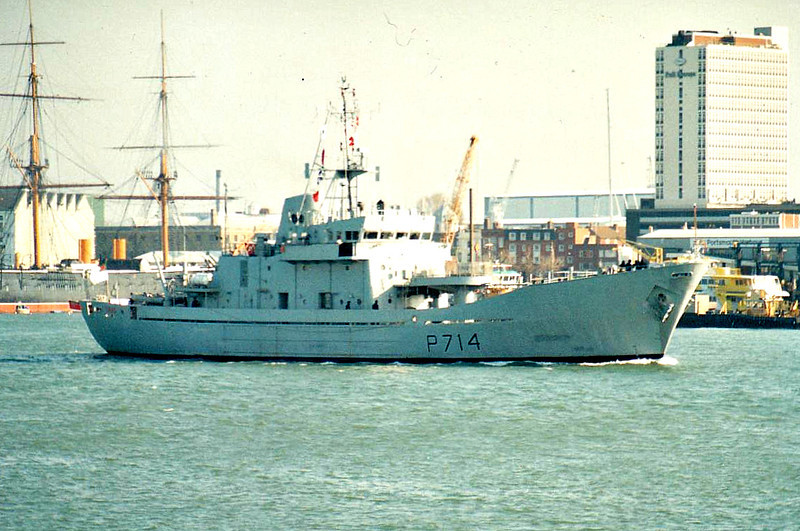 2004 to DATE - SANGU (P714) - Island Class Patrol Vessel - 1260 tons - 59.5 x 11.0 - 1977 Hall Russell & Co., Aberdeen as HMS GUERNEY (P297) - 1x40mm - 16.5 knots - Fishery Protection Sqdn - 2004 to Bangladesh as SANGU (P714) - still in service.