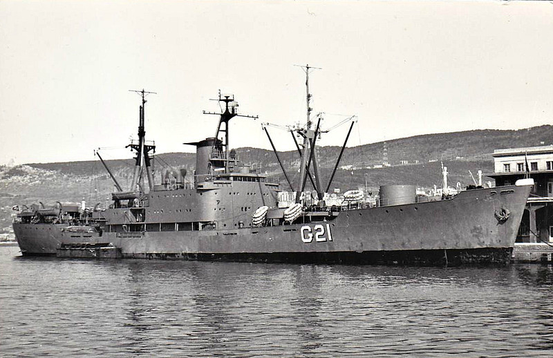 1956 to ???? - ARY PARREIRAS (G21) - Barroso Pereira Class Transport - 4200 tons - 119.5 x 16.0 - 1956 Ishikawajinma Heavy Industries, Tokyo - 2x3in, 4x20mm - 17 knots - fate not known.
