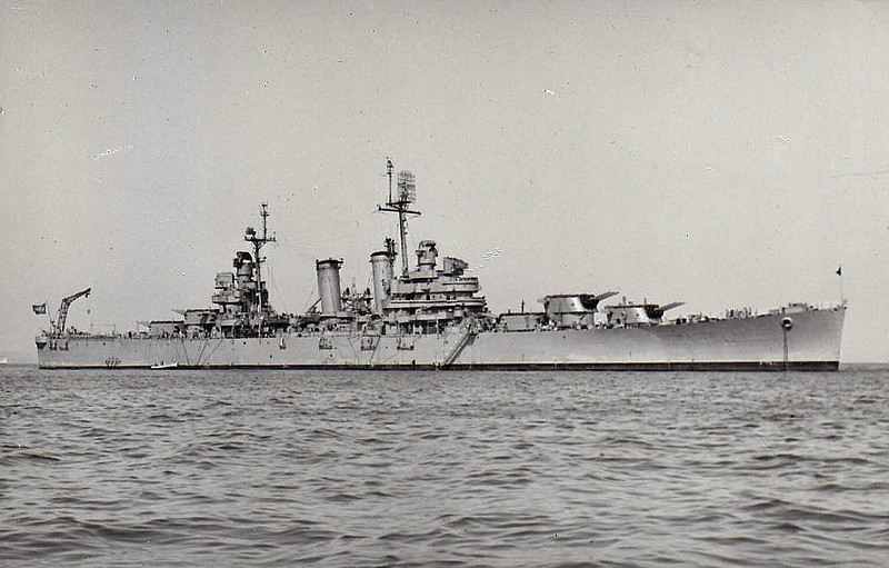 1951 to 1973 - BARROSO (C11) - Ex-USN Philapelphia Class Light Cruiser - 9700 tons - 185.4 x 18.8 - 1937 Philadelphia Navy Yard, PA - 15x6in., 8x5in, 4 a/c - 32 knots - 11/42 Operation Torch, 07/43 invasion of Sicily, 02/44 Anzio, 02/47 decommisioned, 01/51 to Brazil as BARROSO (C11), 1973 sold for breaking.