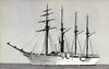 1934 to ???? - ALMIRANTE SALDANHA - 4 masted barquentine - 3325GRT - 1934 Vickers Armstrong, Barrow, No.688 - Brazilian Navy auxiliary sail training ship, seen here in 08/50.