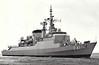 1977 to DATE - DEFENSORA (F41) - Niteroi Class Frigate - 3800 tons - 129.2 x 13.5 - 1977 Vosper Thorneycroft, - 1x4.5in., 2x20mm, Exocet, ASPIDE, 6TT - 30 knots - still in service - seen here 10/77.