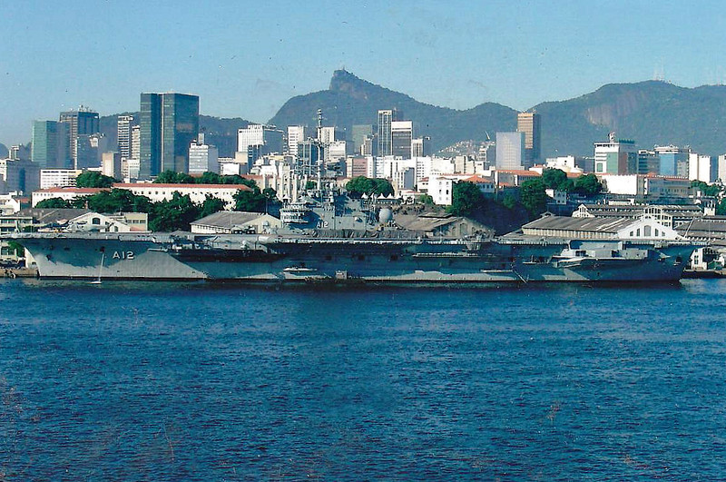 2000 to DATE - SAO PAOLO (A12) - Clemenceau Class Aircraft Carrier - 32800 tons - 265.0 x 51.2 - 1963 Brest Navy Yard - SACP Crotale, SADRAL, 40 a/c - 32 knots - 07/63 commisioned to French Navy as FOCH (R99), 05/77 Djibouti, 1983/84 Lebanon, 1993/94 Yugoslavia, 11/2000 sold to Brazilian Navy as SAO PAOLO (A12) - 39 a/c.